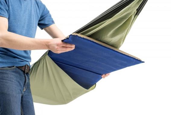 Warme Nächte draußen: Reise - Hängematte outdoor Thermo mit Einschubfach für Isomatte