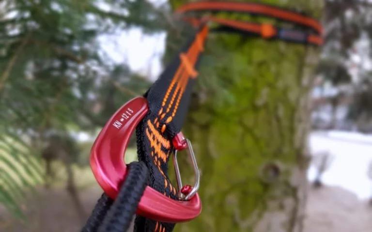 Gartenhängematte zum Aufhängen Zubehör Ausrüstung Seil Karabiner