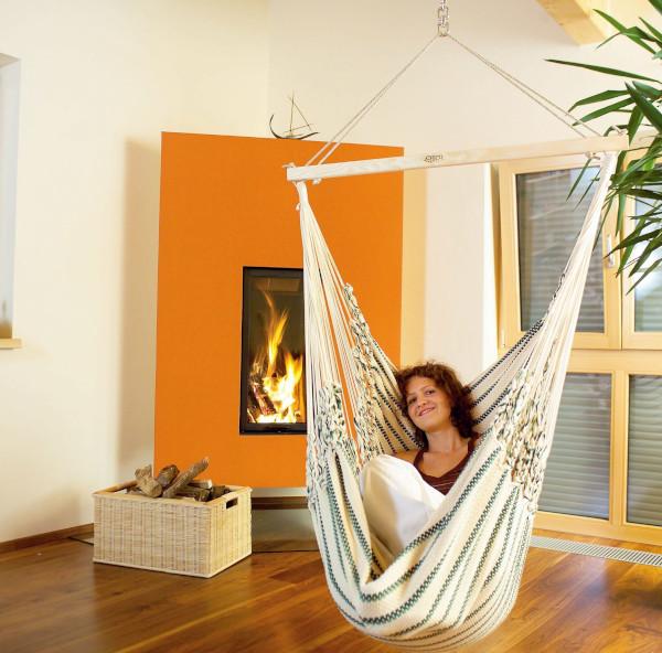Hängesessel aufhängen in der Wohnung